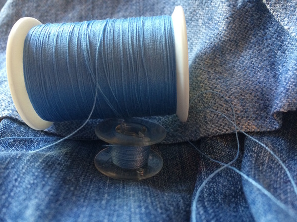 Mending Jeans: How to Fix Torn Denim | A Domestic Wildflower click for a great tutorial on fixing denim with a few important tips!